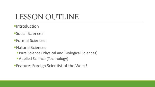 Unit 1, Lesson 1.2 - Branches of Science