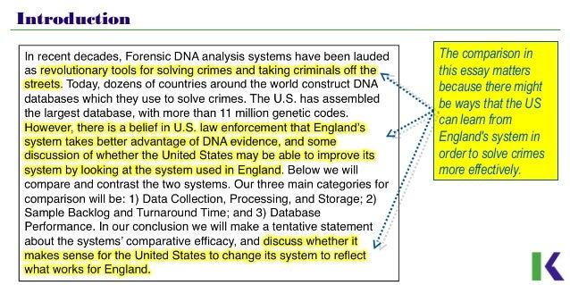 Dna database essay