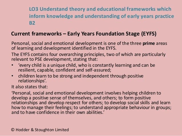 Personal, social and emotional development is one of the three prime areas of learning and development identified in the E...