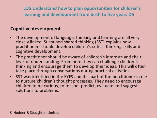 • The development of language, thinking and learning are all very closely linked. Sustained shared thinking (SST) explains...