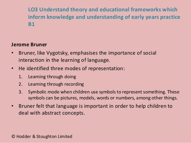 Jerome Bruner • Bruner, like Vygotsky, emphasises the importance of social interaction in the learning of language. • He i...
