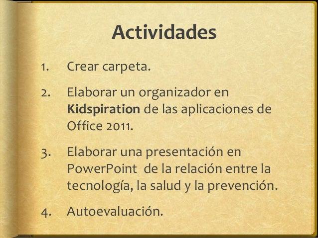 Proceso Actividad 2 en español 1. Abrir un archivo nuevo en Kidspiration 3 (buscar en Aplicaciones). 2. Presionar el botón...