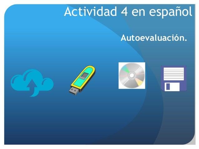 Autoevaluación. Actividad 4 en español