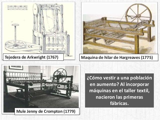 Mule Jenny de Crompton (1779) Tejedera de Arkwright (1767) Maquina de hilar de Hargreaves (1775) ¿Cómo vestir a una poblac...
