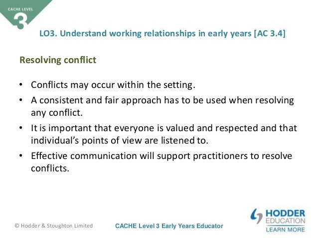 identify skills and approaches needed for resolving conflicts