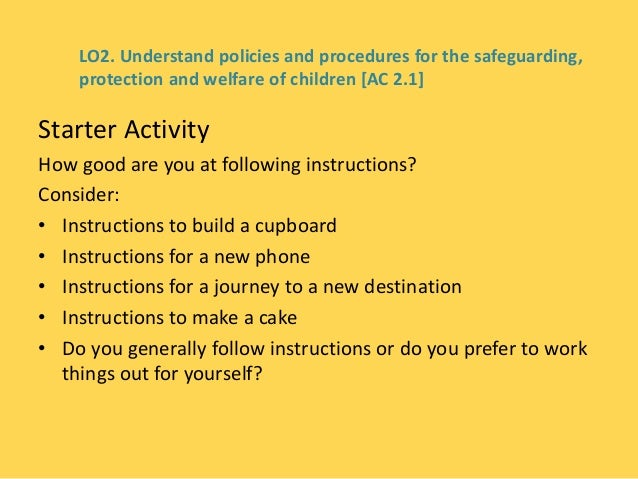 child protection policies and procedures