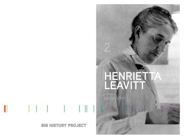 2 HENRIETTA LEAVITT BIOGRAPHY