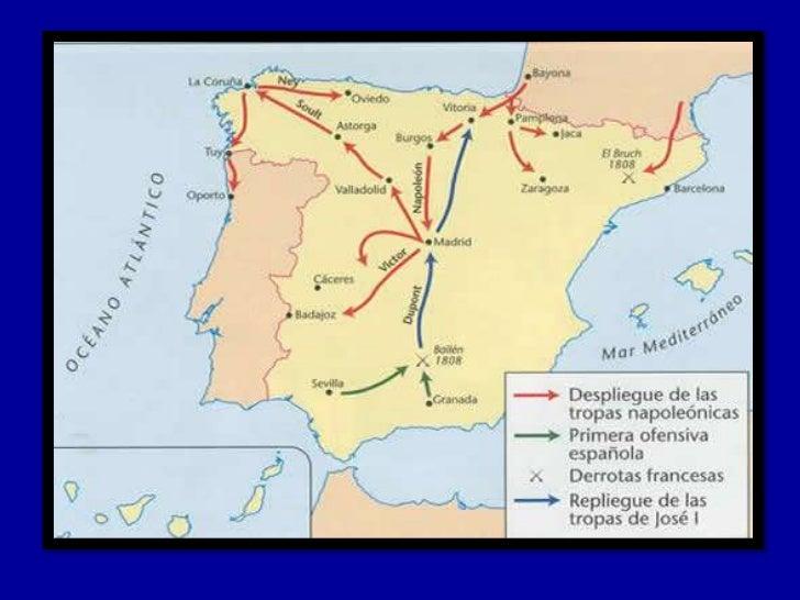 • Para entonces el afán napoleónico era afianzar  su dominio tanto en Portugal cuanto en  España.• Manuel Godoy, el minist...