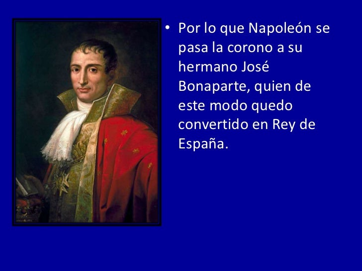 • Algunos individuos del mundo oficial español  aceptaron lo del nuevo Rey; pero el pueblo  indignado, se estableció contr...