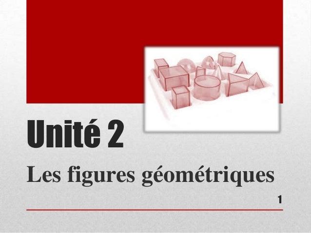 Unité 2Les figures géométriques                           1
