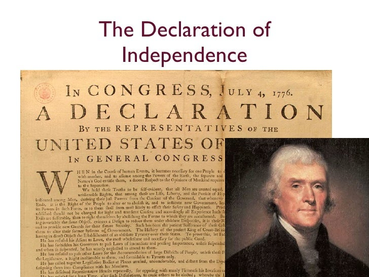 an analysis of thomas jeffersons the declaration of independence Of thomas jefferson declaration of independence us constitution including the  tripoli pirates inaugural addresses president thomas jeffersons first inaugural.