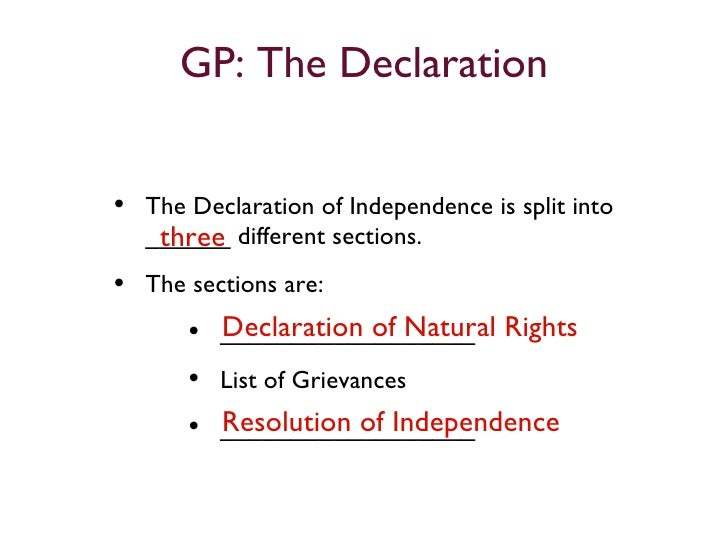 contrasting the declaration of independance and Get in-depth analysis of declaration of the rights of man and citizen, with this section on compare and contrast.