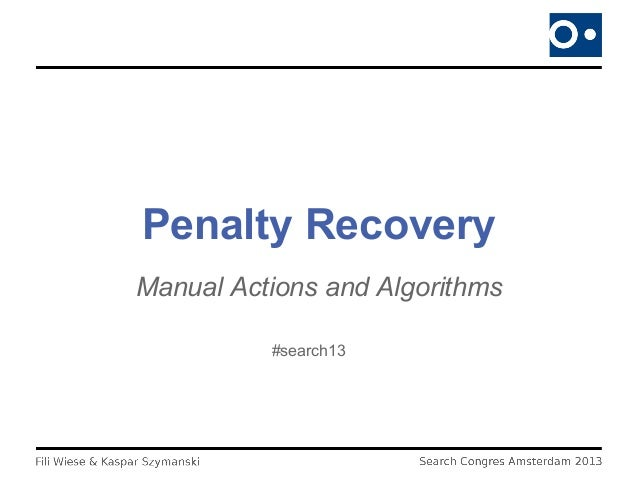 Penalty Recovery Manual Actions and Algorithms #search13