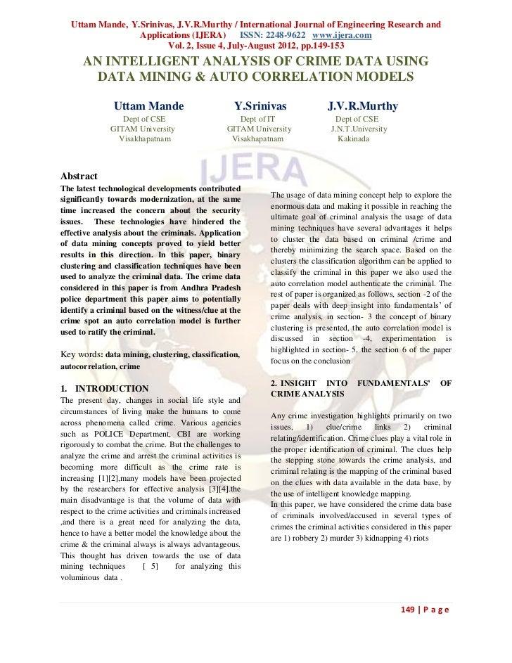 Uttam Mande, Y.Srinivas, J.V.R.Murthy / International Journal of Engineering Research and                  Applications (I...