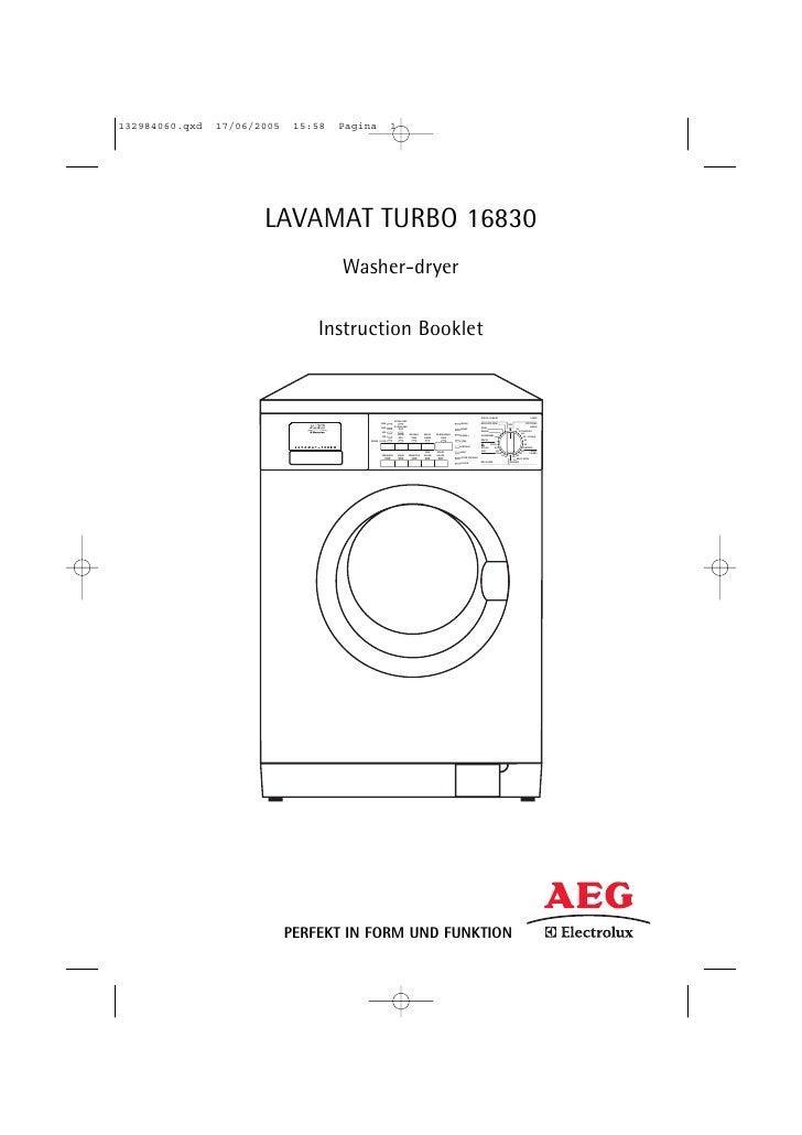 LAVAMAT TURBO 16830         Washer-dryer       Instruction Booklet                                                        ...