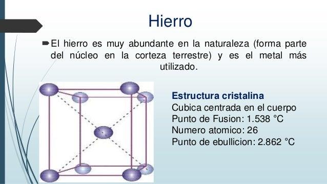 Estructura Cristalina Propiedad De Los Materiales
