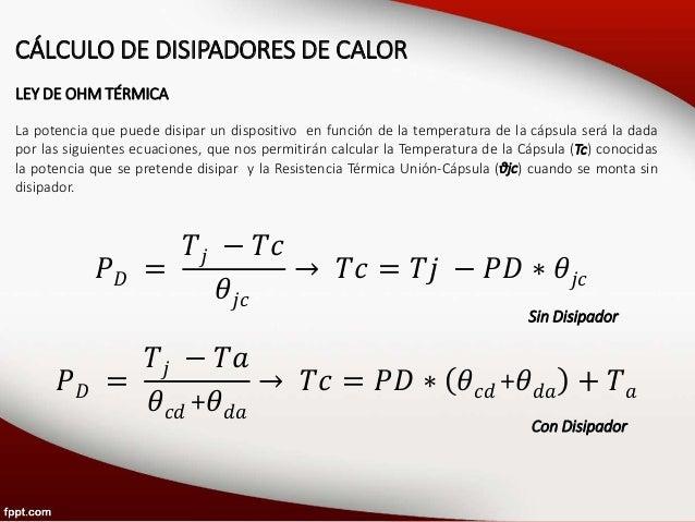 U2S2: Cálculo de Disipadores de Calor