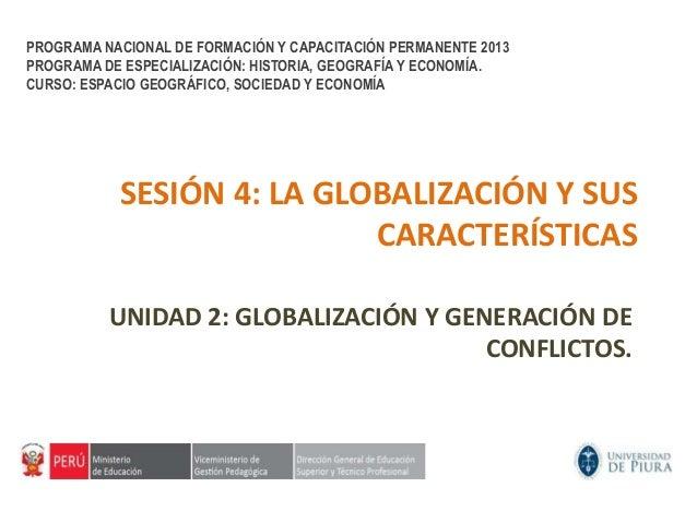 PROGRAMA NACIONAL DE FORMACIÓN Y CAPACITACIÓN PERMANENTE 2013PROGRAMA DE ESPECIALIZACIÓN: HISTORIA, GEOGRAFÍA Y ECONOMÍA.C...
