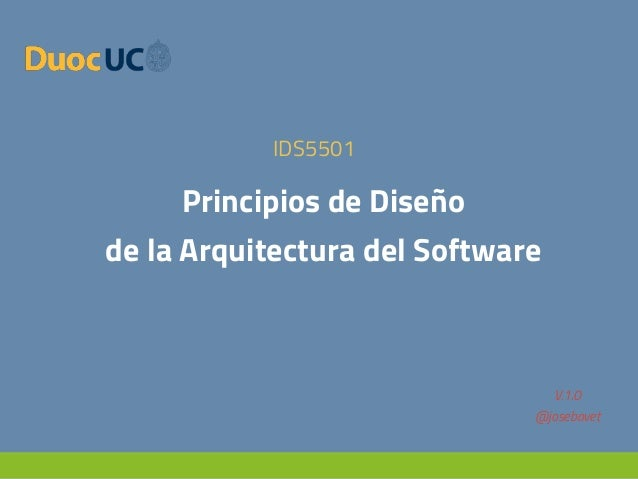 Principios de dise o de la arquitectura del software for Especializacion arquitectura de software