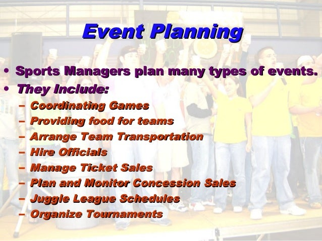 planning and managing events