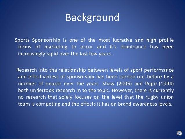 background sports sponsorship