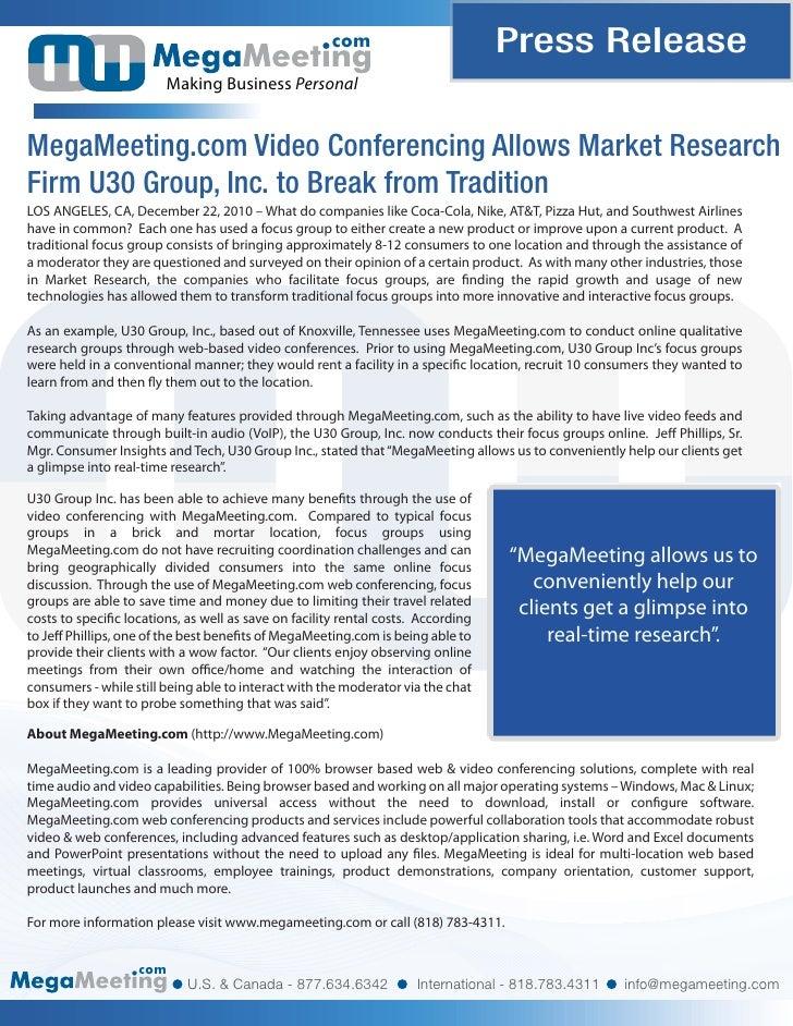 com                         Press Release                        Making Business PersonalMegaMeeting.com Video Conferencin...