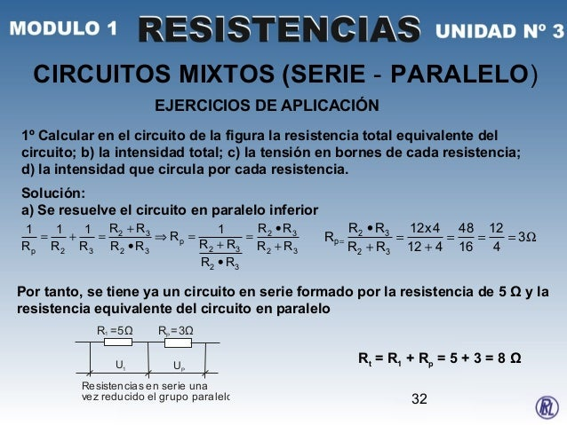 Circuito En Paralelo Ejemplos : U 3 resistencias m1 u1