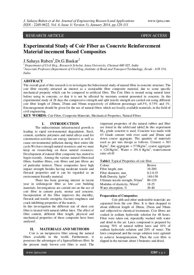 J. Sahaya Ruben et al Int. Journal of Engineering Research and Applications ISSN : 2248-9622, Vol. 4, Issue 1( Version 3),...