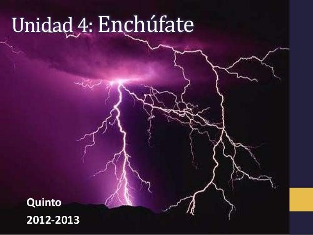 Unidad 4: Enchúfate Quinto 2012-2013
