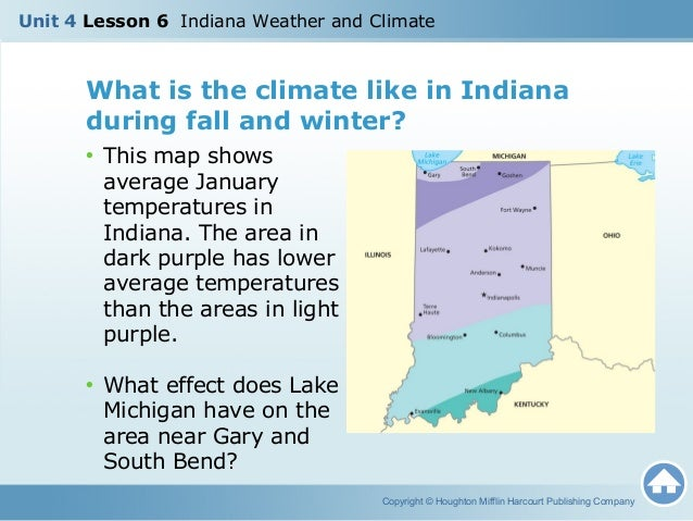 U4L6 - Indiana Weather and Climate