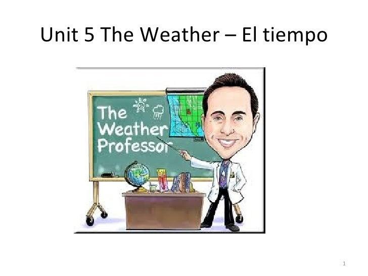 Unit 5 The Weather – El tiempo