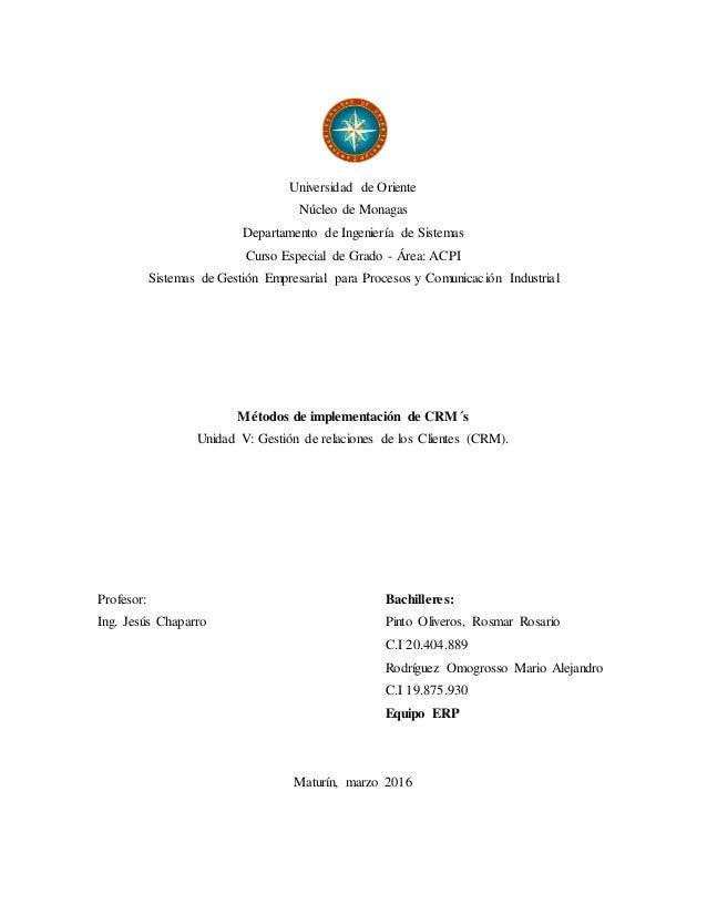 Universidad de Oriente Núcleo de Monagas Departamento de Ingeniería de Sistemas Curso Especial de Grado - Área: ACPI Siste...