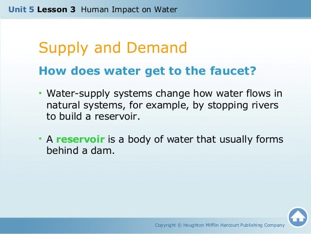The impact of human activities on water supplies