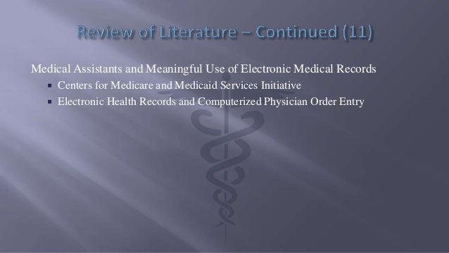 medical record speech assignment Medical experts agree that electronic medical records, when used wisely, can help curb costs for physicians and improve care for the patient overall, improving and advancing electronic medical records will cut costs, time, and reduce medical record errors.