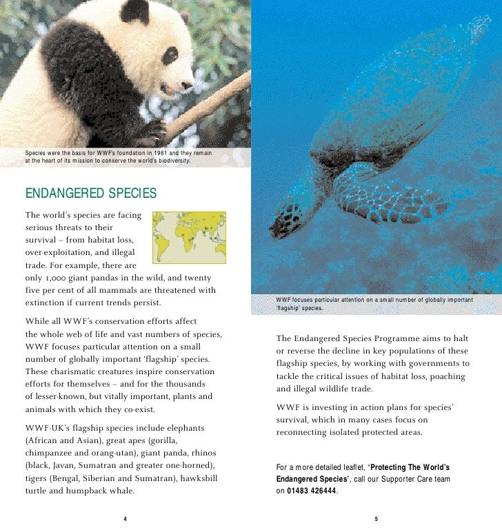 Species were the basis for WWF's foundation in 1961 and they remain at the heart of its mission to conserve the world's bi...