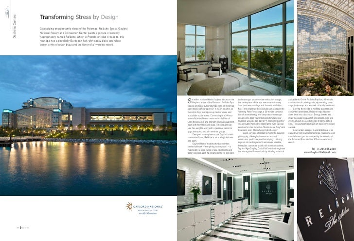 Transforming Stress by Design Destress Centers                                         Capitalizing on panoramic views of ...