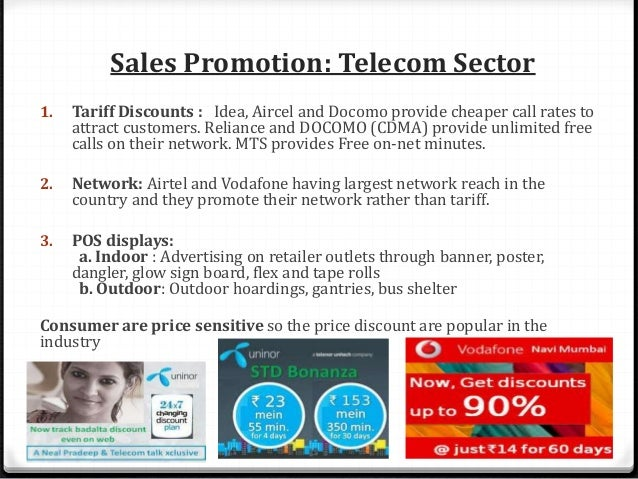 Sales Promotion: Telecom Sector