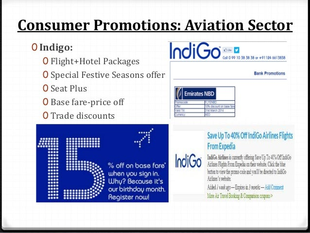 Consumer Promotions: Aviation Sector 0 SpiceJet: 0 Price-off 0 Co-Branded cards 0 Student Discount 0 Passenger Bonanza off...