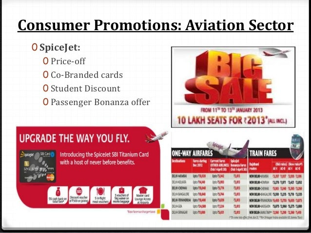 Consumer Promotions: Aviation Sector 0 GoAir: 0 Book 1 for 4 cities 0 Special Discounts 0 Go-Flexi
