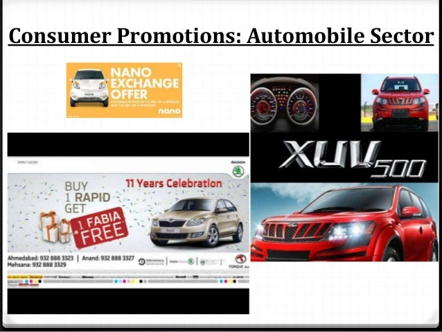 Consumer Promotions: Automobile Sector