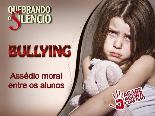 Bullying não é fácil de definir. Algumas vezes envolve bater, empurrar ou chutar. Mas, ameaças, gozações e zombarias são m...