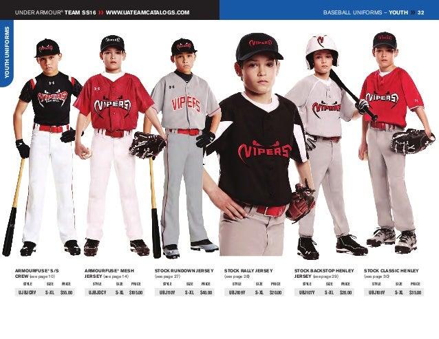 under armour kids baseball