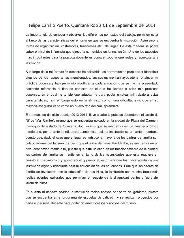 ANÁLISIS REFLEXIVO: LA IMPORTANCIA DEL CONTEXTO EN EL TRABAJO DOCENTE Slide 2
