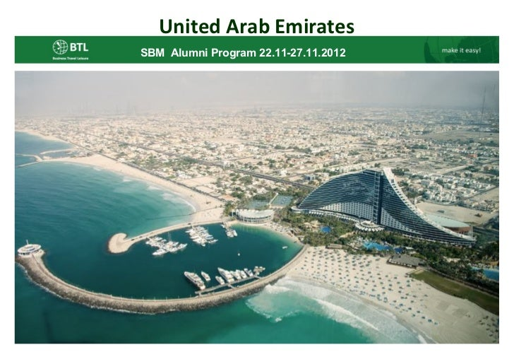 United Arab EmiratesSBM Alumni Program 22.11-27.11.2012