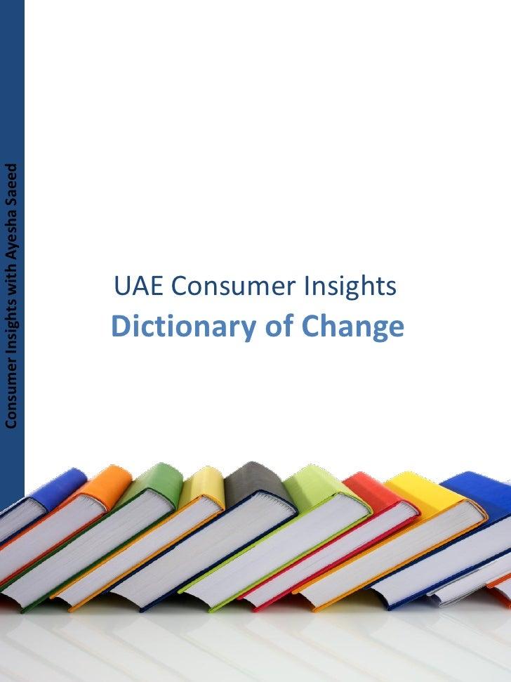 Consumer Insights with Ayesha Saeed Consumer Insights with Ayesha Saeed                                             UAE Co...