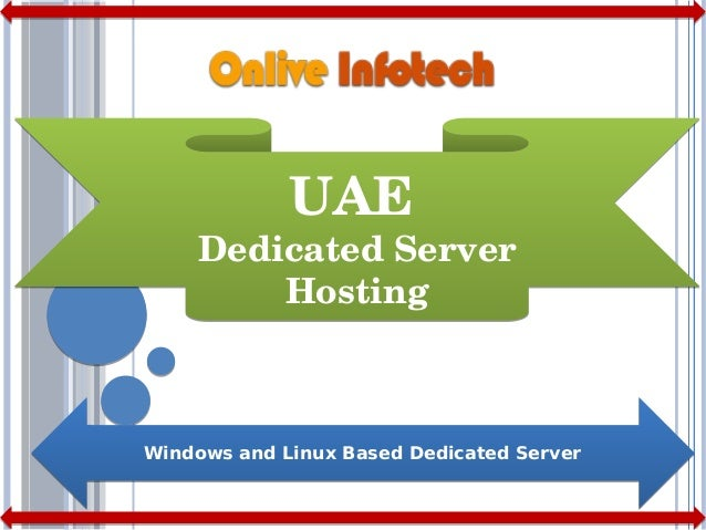 Uae dedicated server hosting plans