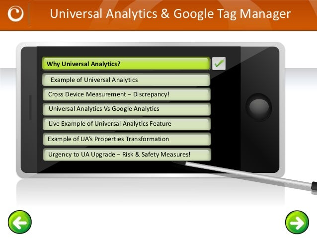 Universal Analytics & Google Tag Manager Example text Go ahead and replace it with your own text. This is an example text....