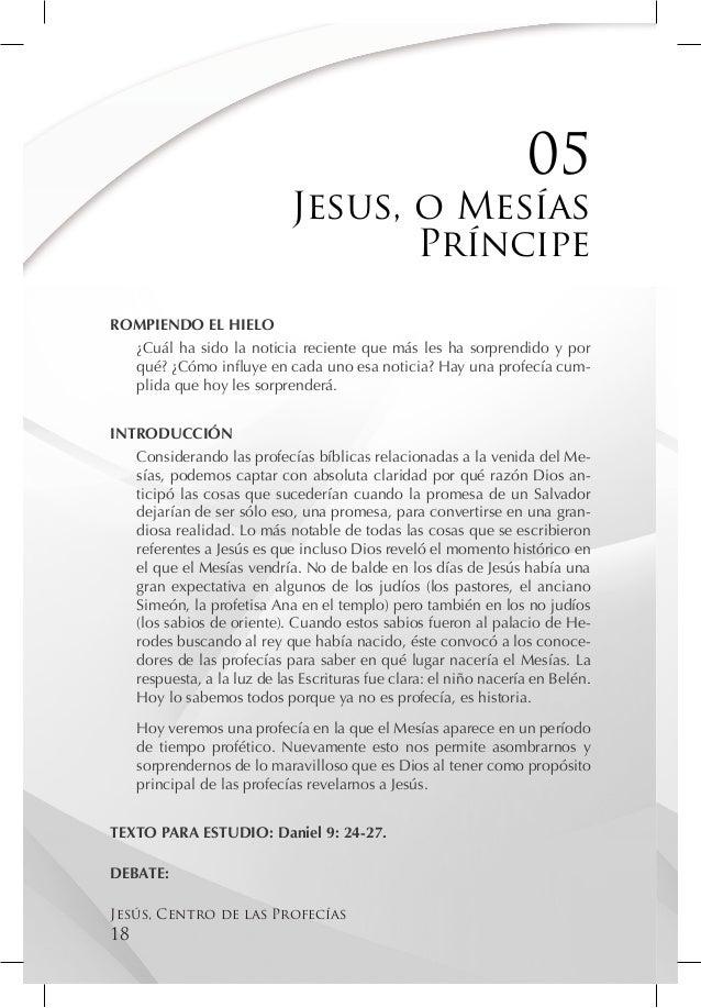 05                            Jesus, o Mesías                                   PríncipeROMPIENDO EL HIELO  ¿Cuál ha sido ...