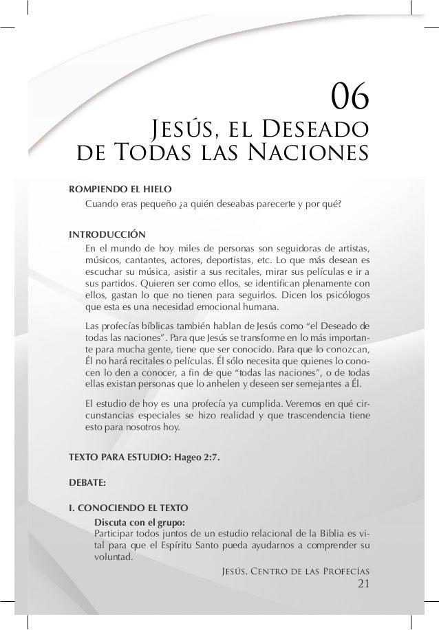 06      Jesús, el Deseado de Todas las NacionesROMPIENDO EL HIELO  Cuando eras pequeño ¿a quién deseabas parecerte y por q...