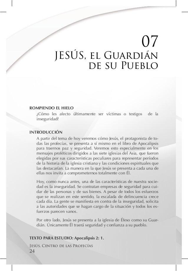 07               JESÚS, el Guardián                      de su PuebloROMPIENDO EL HIELO  ¿Cómo les afecto últimamente ser ...